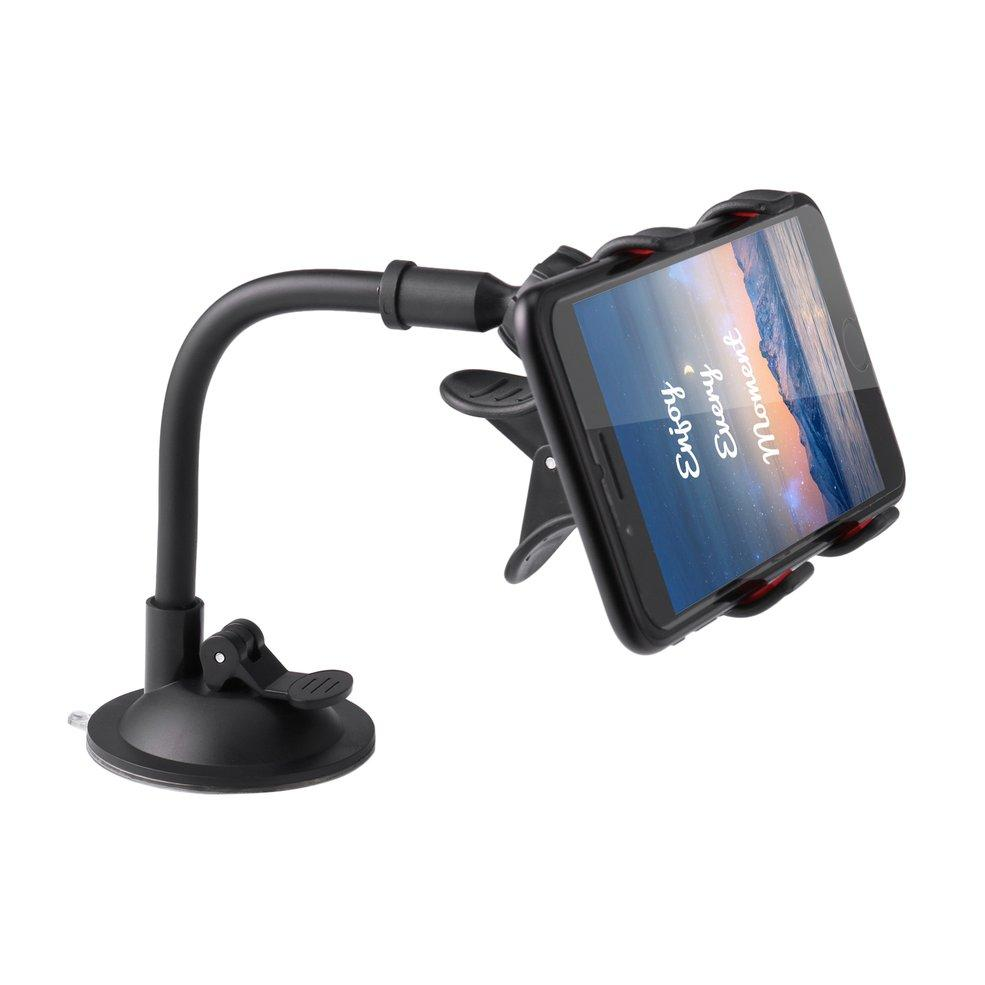 Universal Non-slip Bracket Stand Soft Tube Mobile Phone Holder Windshield Car Mount Holder for GPS for phone Navigation