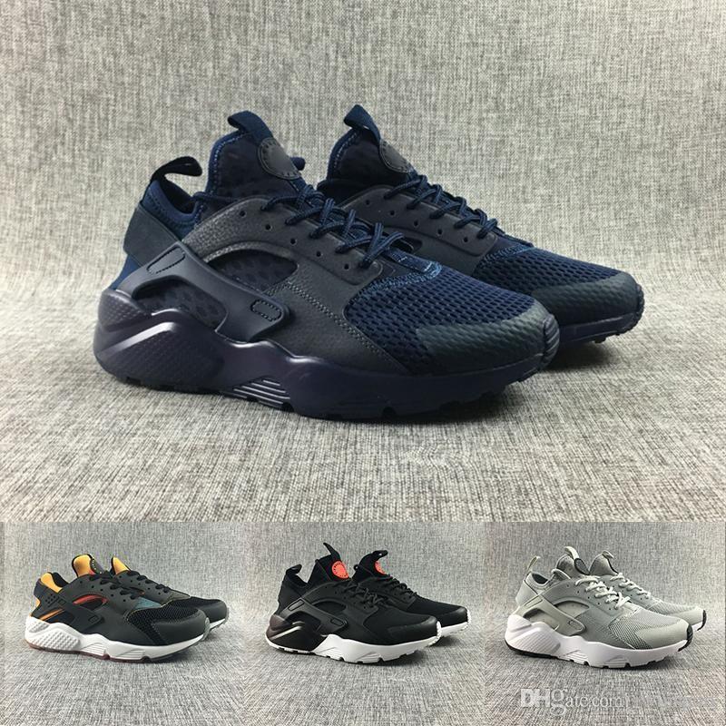 best service bd38e 9ce07 Acheter Nike Air Max Vente Chaude Air Huarache Ultra Chaussures De Course  Pour Femmes Hommes, Hommes Femme Blanc Triple Noir Huaraches Sport Sneakers  ...