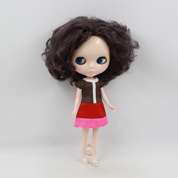 Fortune Days Nude Factory Blyth doll No. BL130BL9219 Deep purple hair suitable for change toy white skin Neo