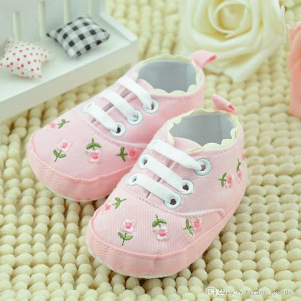Baby Girl Shoes White Lace Floral Embroidered Soft Shoes Prewalker Walking Toddler Kids Shoes 5pairs/10pcs