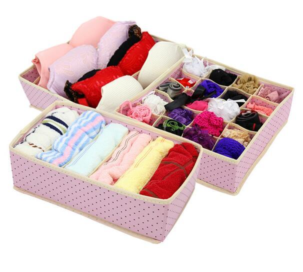 Ordinaire Home Underwear Storage Box For Bra Tie Socks Container Organizers Closet  Draw Dividers Foldable NonWoven Underwear Storage Box Bra Tie Socks Box  Socks ...