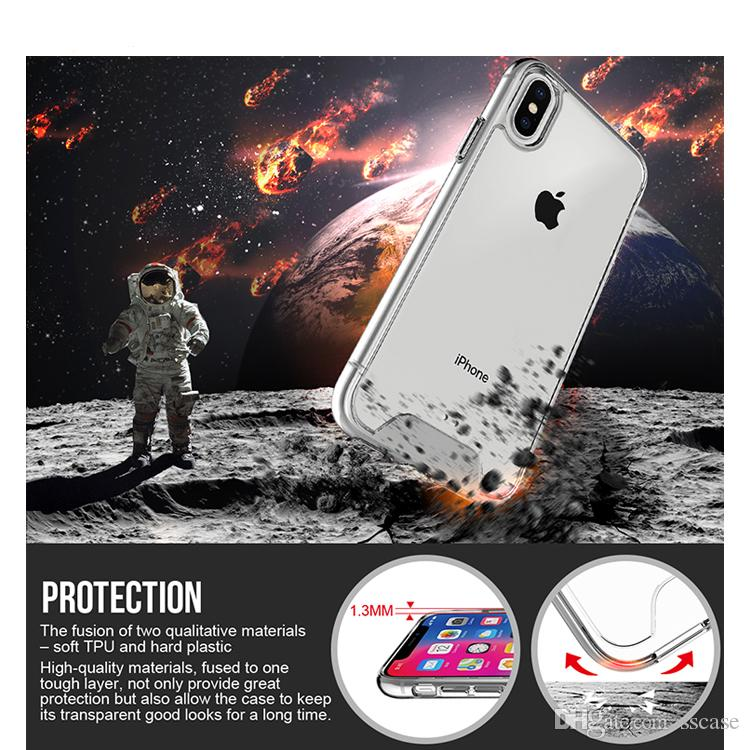 Venta al por mayor caliente del precio de fábrica de cristal transparente de los casos claros de teléfono para el iPhone x para Samsung Xiaomi
