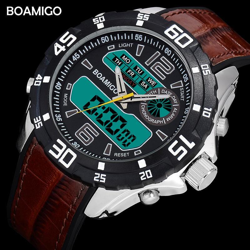 1c39a4b42ed Compre X Men Sports Relógios Homens Relógios LED Digital Elástico Analógico  Banda Relógio De Pulso BOAMIGO Marca Presente Relogio Masculino À Prova D   Água ...