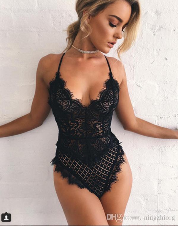 Biancheria intima erotica sexy Tentazione uniforme europea e americana Tatuaggio Siamese Set seduzione sexy performance di scena Abbigliamento