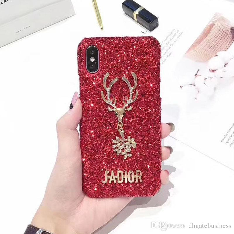 Case for iPhone X Christmas red flashing case for iphone 8 7 6 plus back cover for iphone10 6s 5s