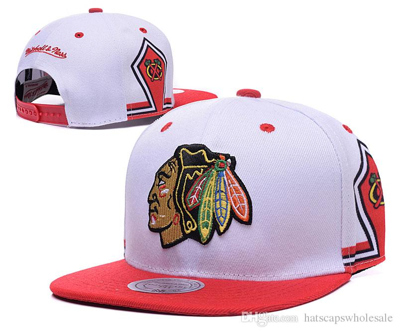 261d93fc39d ... france mens white color mn vintage chicago blackhawks snapback hat logo  embroidery sport nhl adjustable ice