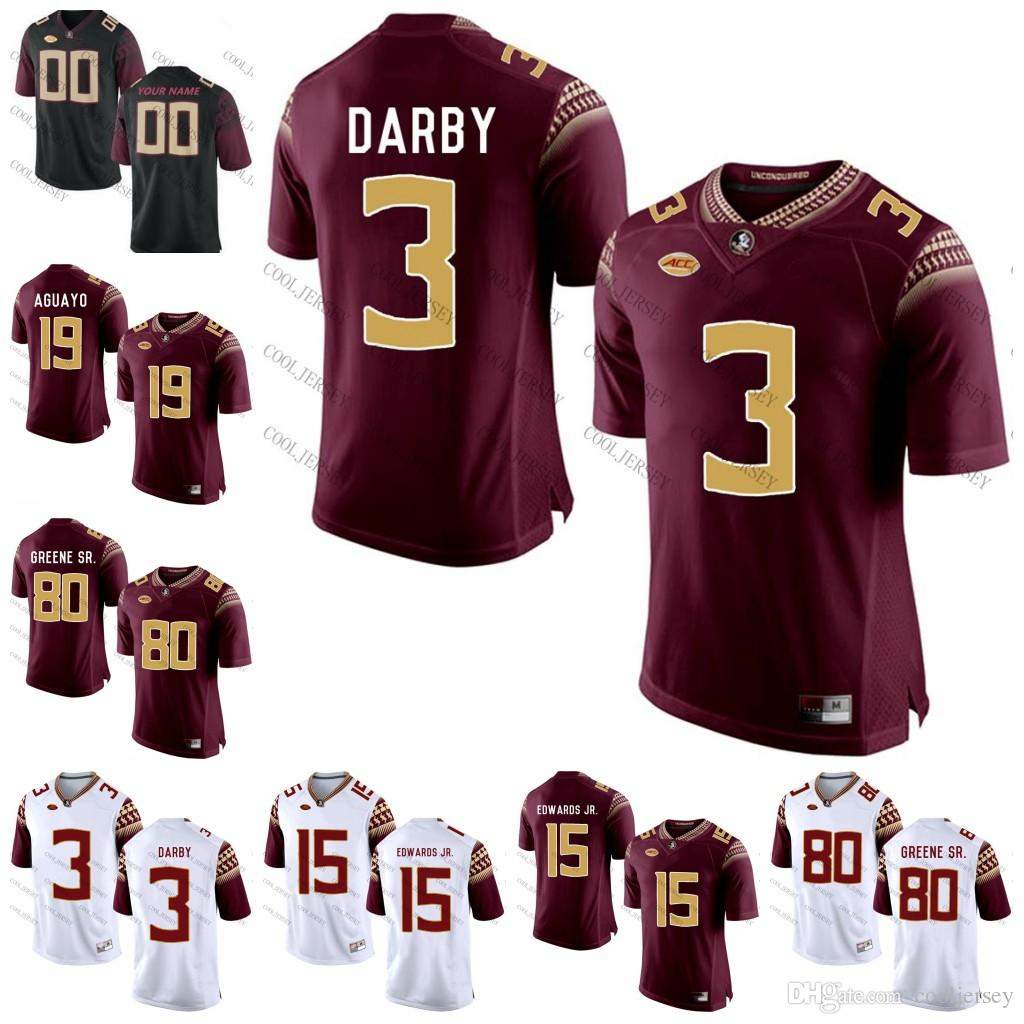 2019 NCAA Florida State Seminoles College Football  3 Ronald Darby 15 Mario  Edwards Jr 19 Roberto Aguayo 80 Rashad Greene White Red Black S 3XL From ... b5cc02176