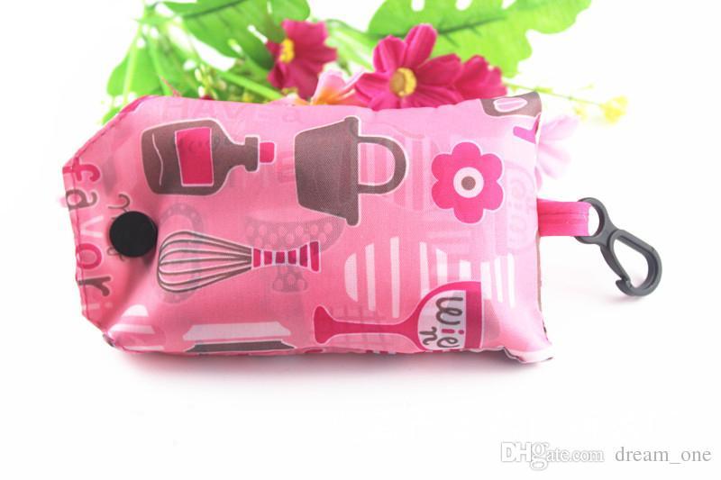 Recyceln Sie Beutel Keychain wiederverwendbare Eco Faltentasche Einkaufstasche Neuer Damenschlüsselring Freies Verschiffen CM132