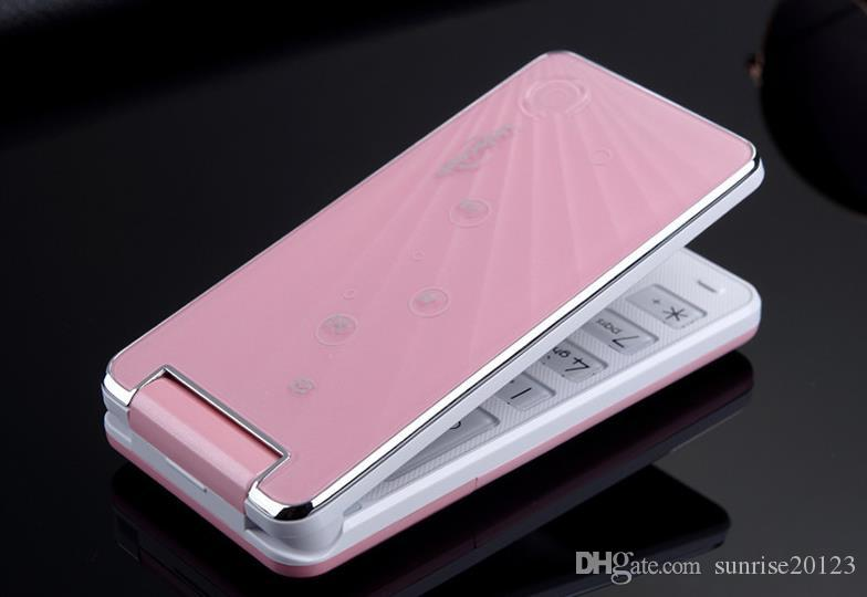 The new W2014D flip phone, women's mobile phone characters loud double card dual standby, mobile wholesale old man machine