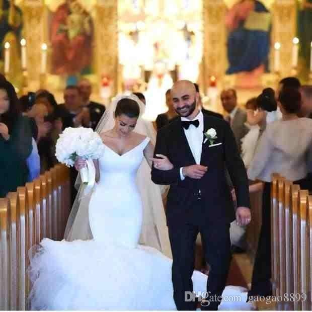 Plus Size 2018 Mermaid Wedding Dresses Bridal Gowns Zipper Back Robe De Mariage Sexy V neck backless wedding Bridal Gown
