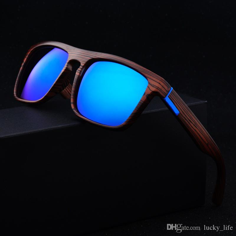 f93dc9ac3e6 Retro Imitation Bamboo Wood Sunglasses Men Women Brand Designer ...