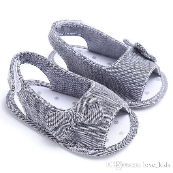 Moda bonita verão menina bebê bowknot sandálias recém-nascidos casuais ao ar livre princesa berço sapatos de alta qualidade