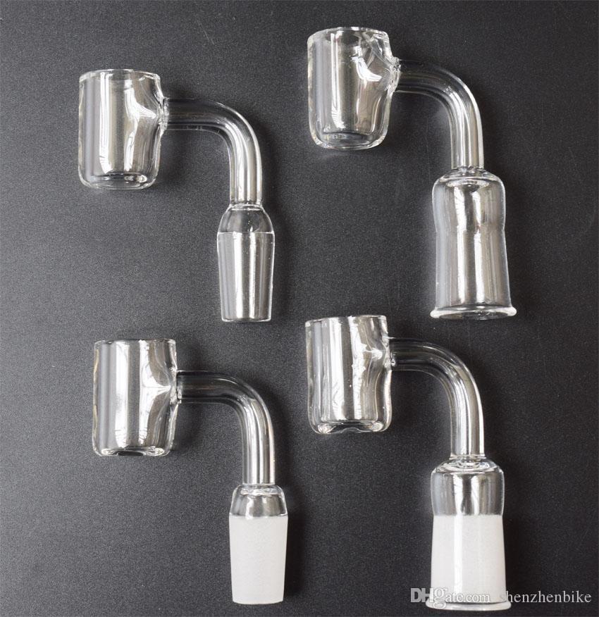 DHL новые 4 мм толщиной плоской вершиной кварцевые Banger ногтей женский мужской 10 мм 14 мм 18 мм кварцевые Domeless ногтей для стекла водопровод стекла Бонг