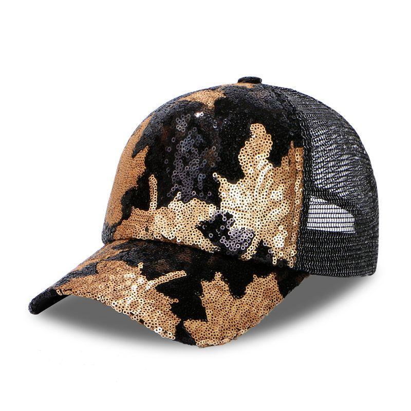 Paillette Baseball Cap Men Dad Hat Women Sports Casual Bend Visor For  Sequin Leaf Ventilated Mesh Hat Male Bone Cap Baseball Cool Hats Lids Hats  From ... 77ee415e1d3