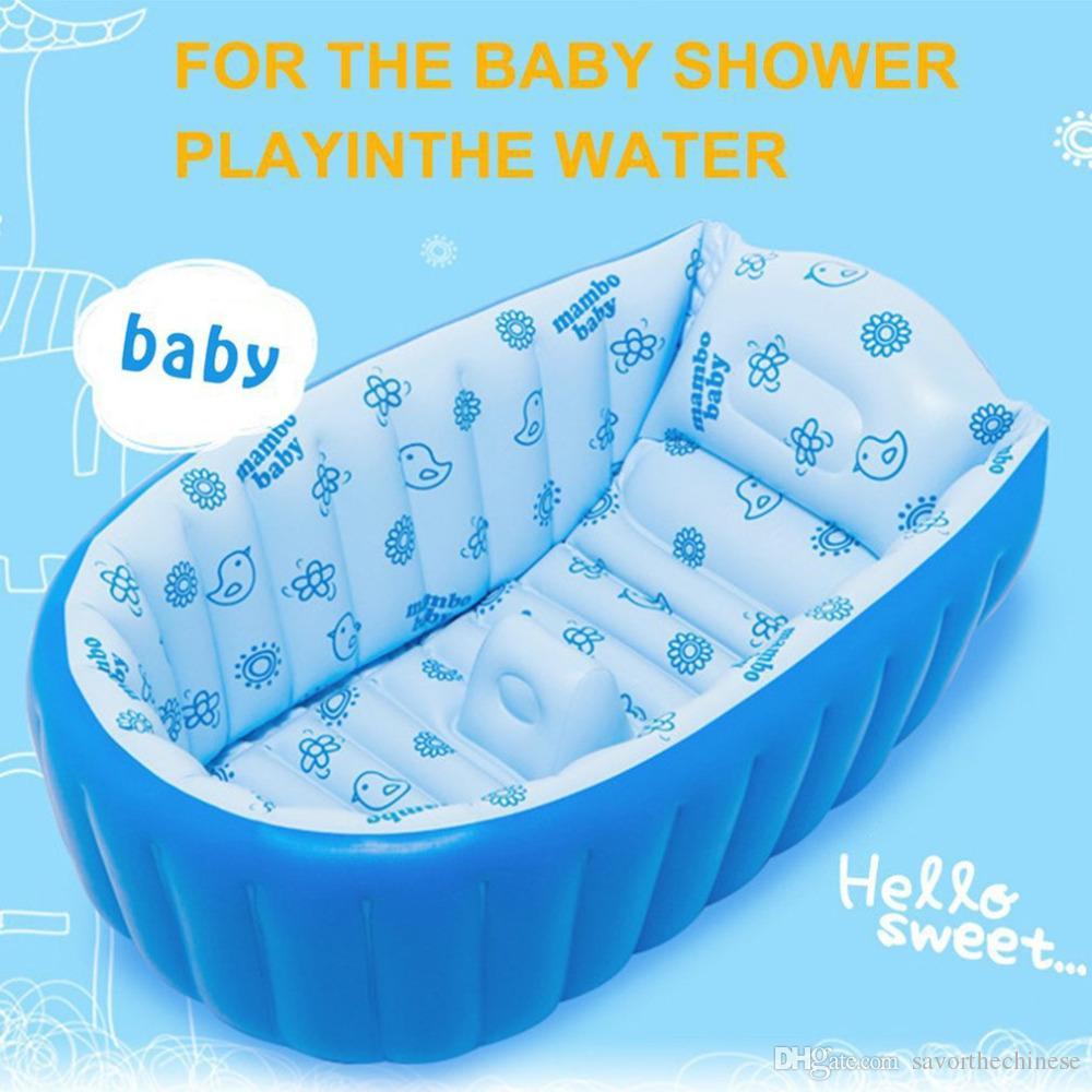 2018 Portable Inflatable Baby Bath Kids Bathtub Thickening Folding ...