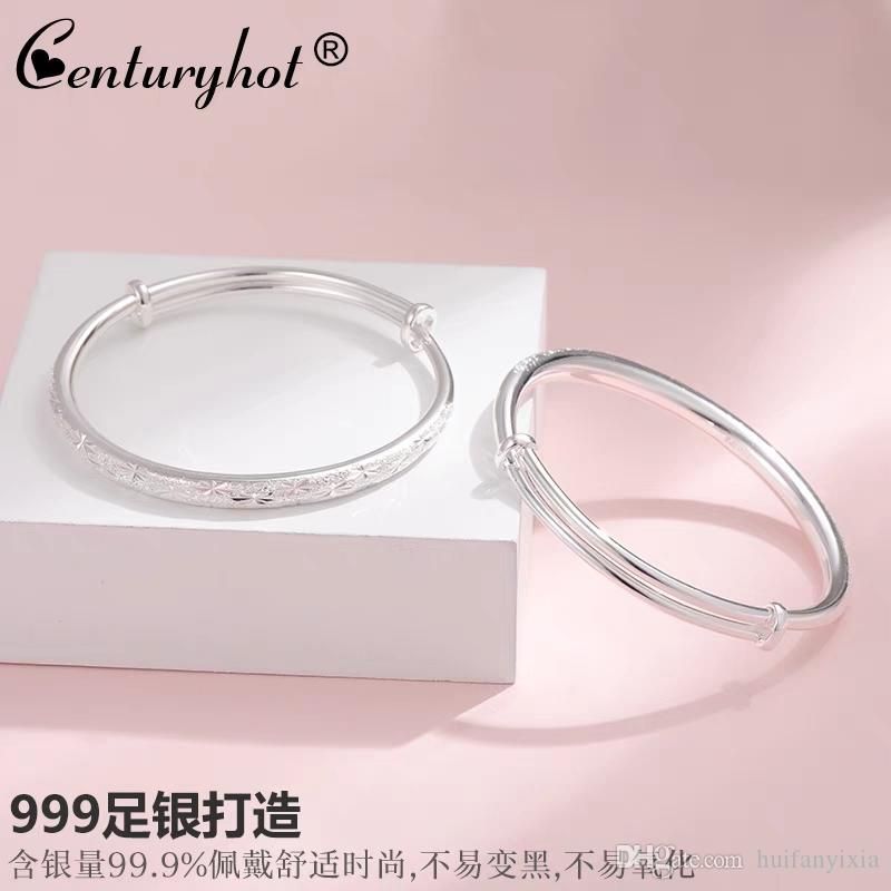 2019 Sky Star 999 Silver Bracelet Female Korean Edition Silverware Lettering Birthday Gift Girlfriend From Huifanyixia