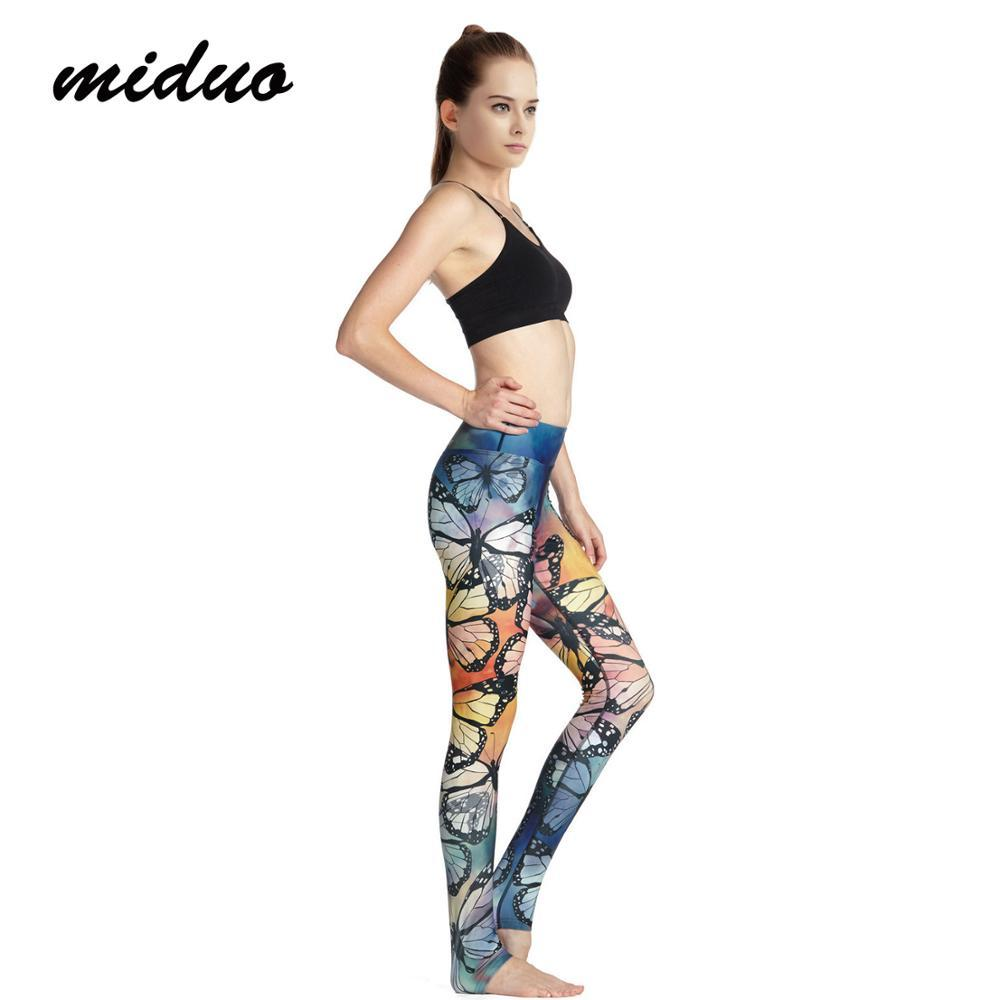 4cff0f4a49e70b 2019 Miduo Yoga Pant Women Running Pants Dance Cropped Leggings High Waist  Stretch Trousers Pants Yoga From Bingquanwat, $40.46 | DHgate.Com