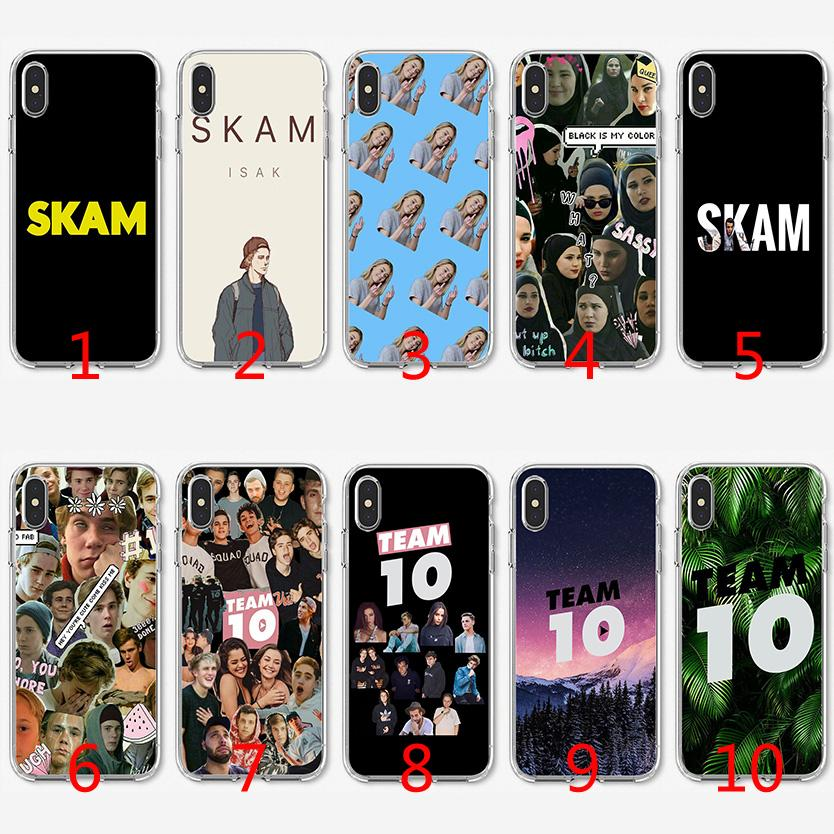 outlet store 8c119 bca89 Skam Team 10 Jake Paul Soft Silicone TPU Case for iPhone X XS Max XR 8 7  Plus 6 6s Plus 5 5s SE Cover