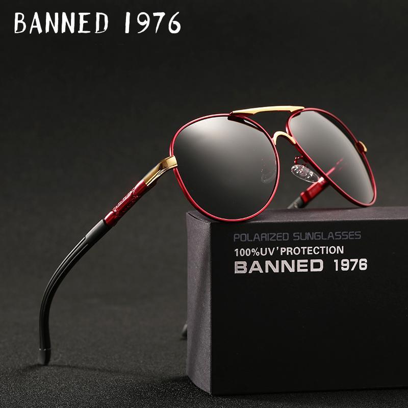 Compre 2018 Nova Qualidade Superior De Alumínio Hd Óculos De Sol Polarizados  Uv400 Homens Dirigindo Óculos De Sol Óculos De Armação De Metal Masculino  ... 997c3d23ed