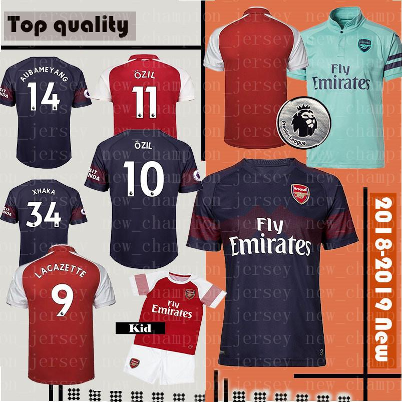 detailed look 2e19f 9f83a 2018 Arsenal Soccer Jersey 2019 Arsenal ALEXIS LACAZETTE OZIL GIROUD  football uniforms Top sales XHAKA AUBAMEYANG Soccer Shirts