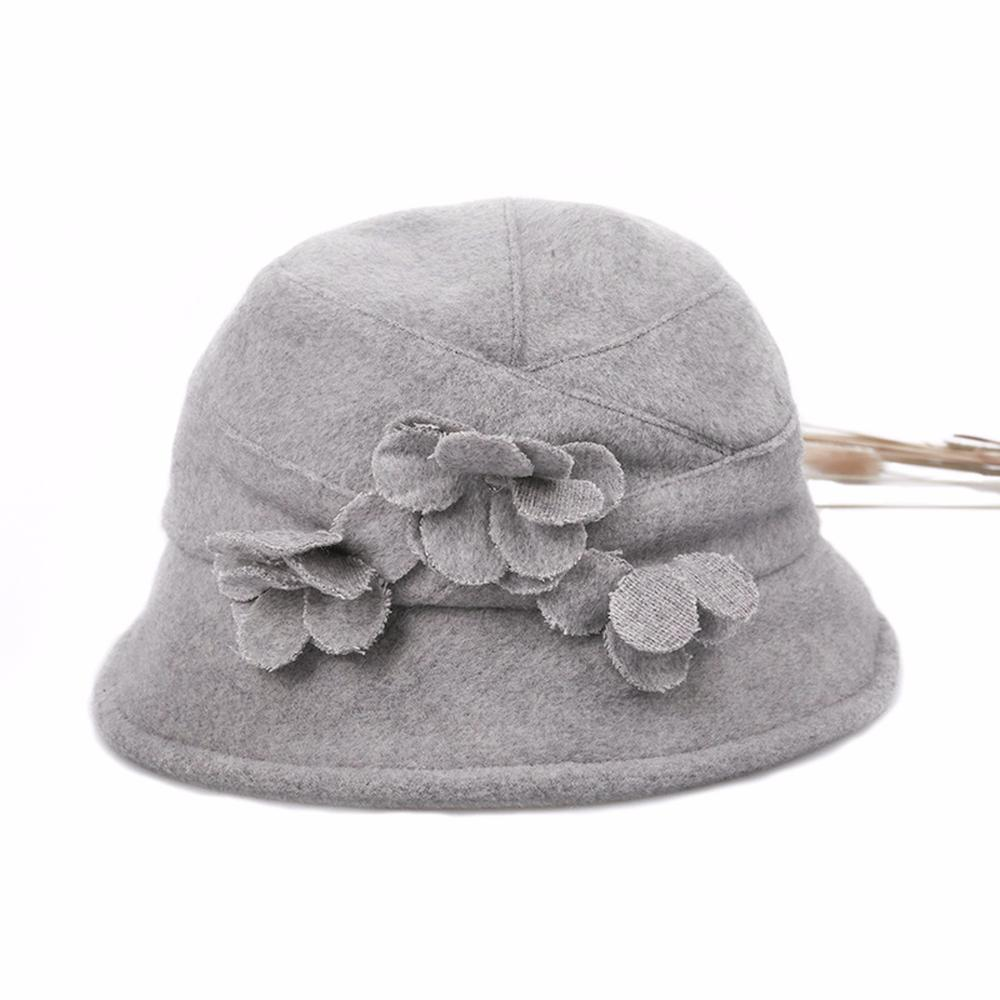 2018 New Women Autumn Winter European American Style Flower Dome Bucket  Hats Elegant Ladies Casual Fashion Solid Color Hats Funny Hats Hat World  From ... 6b8ef929ceaa