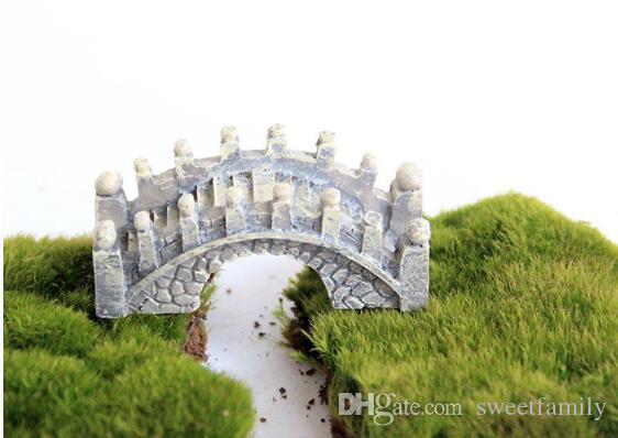 الراتنج مصغرة جسر مصغرة المشهد الجنية حديقة الطحلب تررم الديكور أداة حديقة الحرف dhl مجانا الشحن