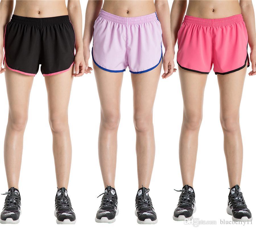 alta moda dce8b 7ba11 Pantaloni estivi da ginnastica per donna estate Pantaloncini fitness da  palestra coulisse Pantaloni da corsa neri casual Pantaloncini da spiaggia  ...