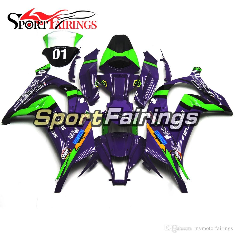 Full Fairings Kit For Kawasaki Ninja ZX-10R ZX10R 2011 12 13 14 2015  Sportbike Eva Racing Purple ABS Plastic Injection Body Frames
