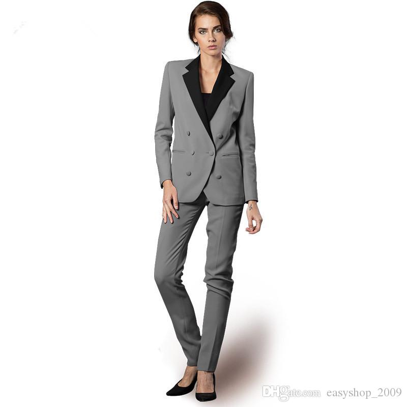 29865267a7ac 2019 Custom Made Women Business Suits Formal Office Suits Female Trousers  Suit Blazer Winter Jacket + Long Pants Ladies Suits Pant From  Easyshop 2009