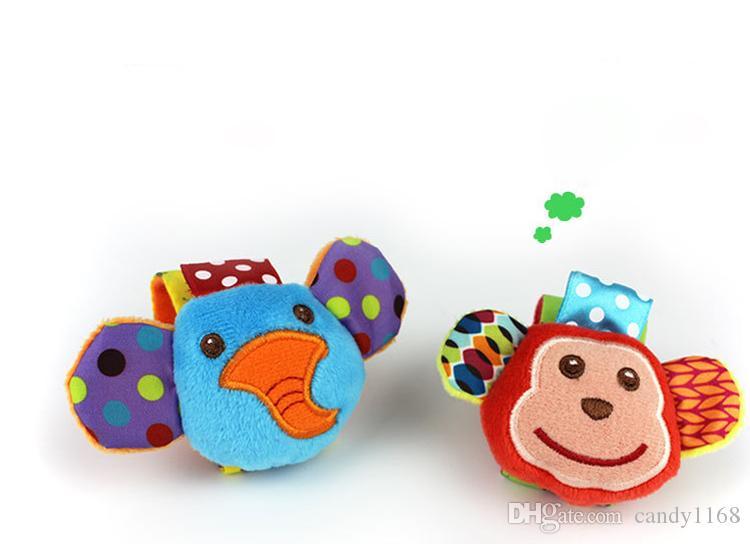 60 قطعة / الوحدة = 15 مجموعات رائعتين الحيوان الرضع طفل راتل القدم مكتشف الجوارب قرد والفيل التنموي لعب مجموعة رائعة الطفل هدية