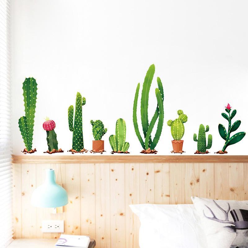 Grosshandel Viele Arten Von Kaktus Green Pflanzen Wandsticker