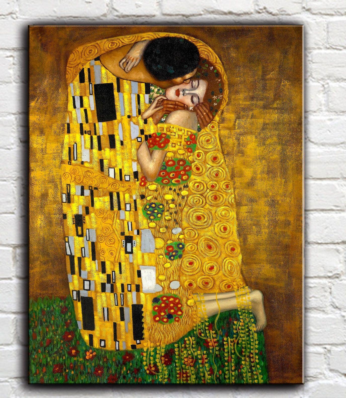 2018 Gustav Klimt El Beso,Canvas Prints Wall Art Oil Painting Home ...