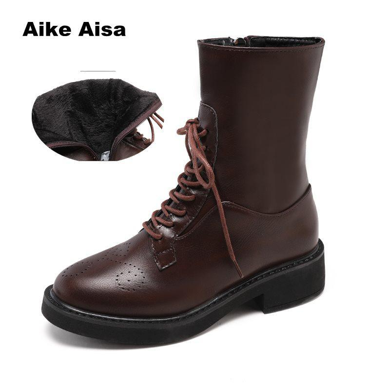Caucho Zapatos Redonda Lluvia Desgaste Botas Impermeable Resistente Señoras Antideslizantes Tenis Al Punta De Otoño Mujer Tobillo R54jcALS3q
