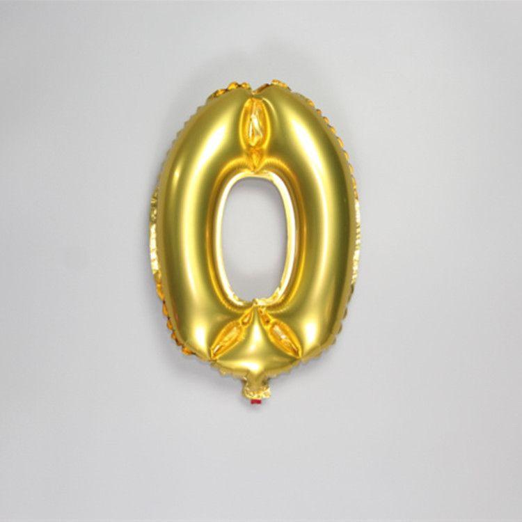 40 cm Número De Prata De Ouro Balões De Folha De Alumínio Hélio Ballon Festa de Aniversário Inflável Decoração Celebração