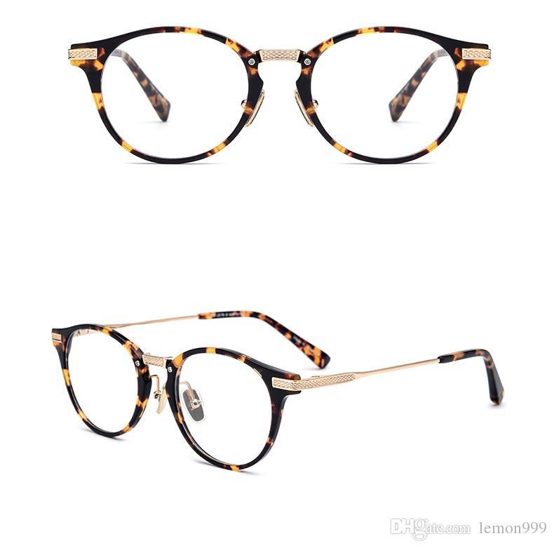 09fb065f34 Compre Gafas De Montura De Titanio Puro Para Hombres Gafas De Gafas Ópticas  Miopía Gafas Montura Redonda Lente Transparente Monturas De Gafas Gafas ...