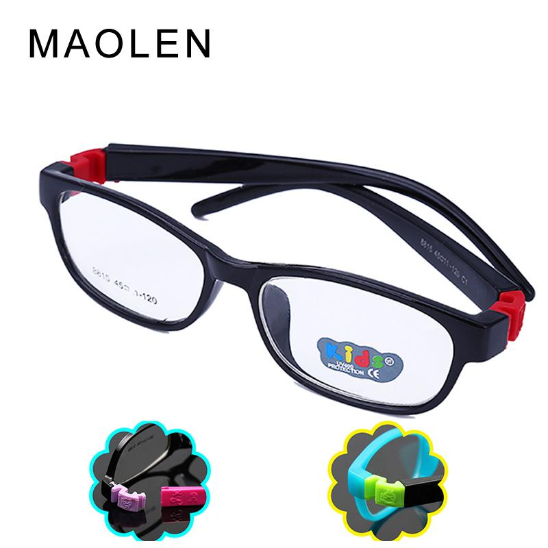 0292cdb5e8 MAOLEN 2017 Bendable Round Light Child Glasses Frame Kids Frames ...