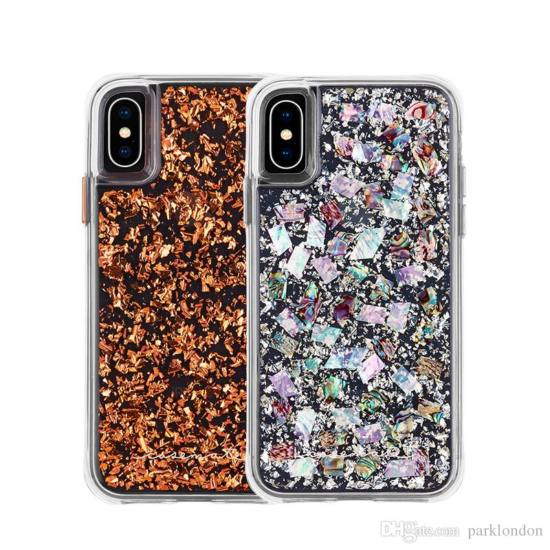 pretty nice a0a91 ffccb 2018 CASE MATE For iPX Case Hybrid Armor Real Mother of Pearl Slim  Protective Design for Ap iP X 8 6 6s 7 Plus Ss s9 plus cases