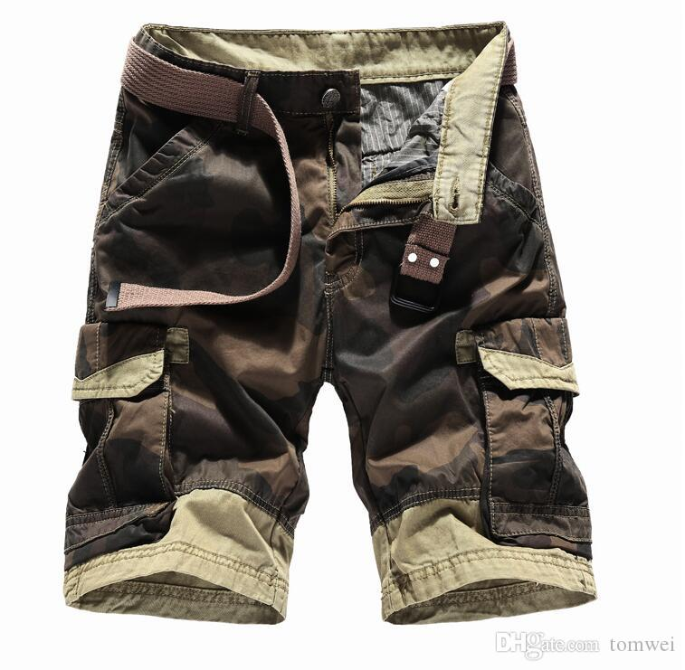 Board Shorts 2018 Casual Shorts Male Loose Work Shorts Brand Clothing Cargo Shorts Man Military Short Pants Beach Board Shorts Plus Size Up-To-Date Styling