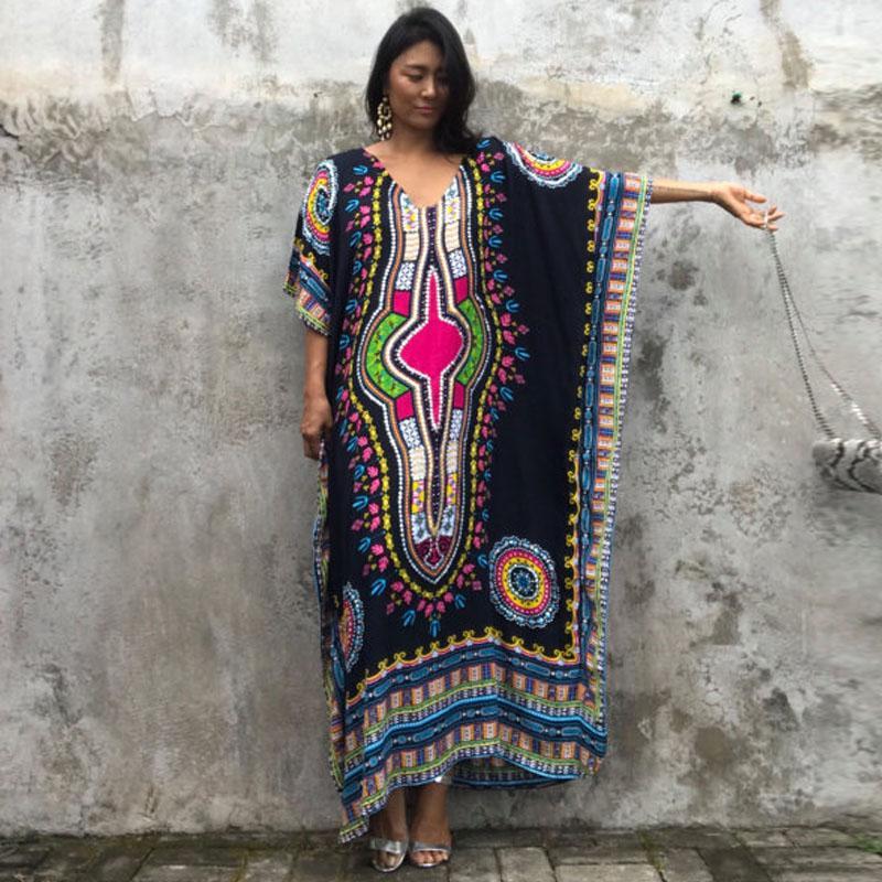 san francisco f1f6c d71c9 PLus Größe online einkaufen indien ethnische Kleid marokkanische Kleidung  Indien Sommerkleid casual Vestidos Femininos schwarz blau gelb