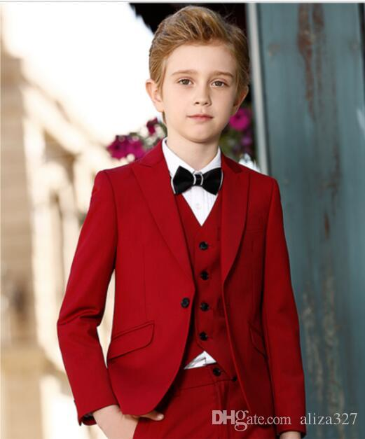 020828e13 Boys Formal new 2018 Boy's Formal Wear Dress Wear Pageboy Flower Boys  Wedding Suits Prom Communion Tuxedo