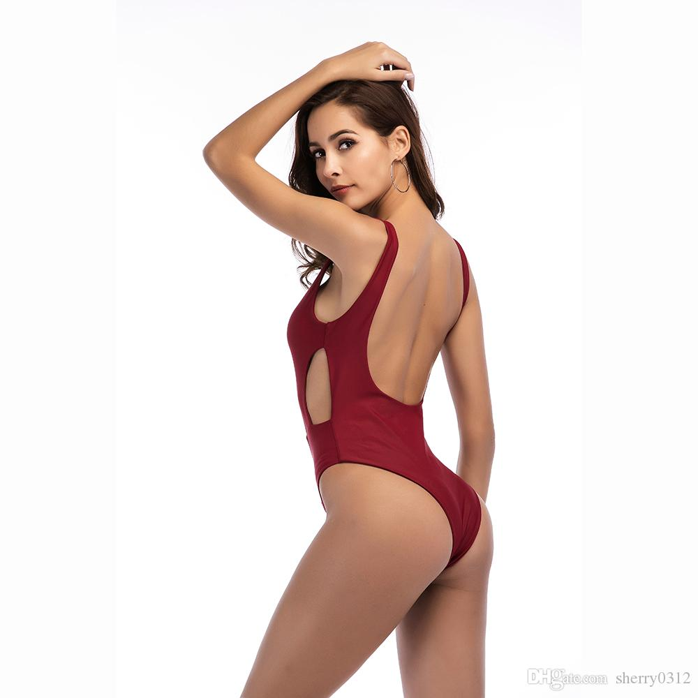 One Piece Swimsuit Sexy Swimwear Women 2018 New Design Beach Wear Bathing Suit Bandage Backless Monokini Swimsuit Brazilian Swimming Trunks