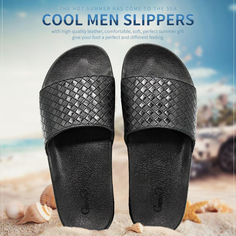 165a82c20b93 Gienig 2018 Men Slippers Summer Fashion Soft Bottom Leisure Trend Home Cool  Slippers Comfortable Simple Men Beach Slippers Moccasins For Women Loafers  For ...