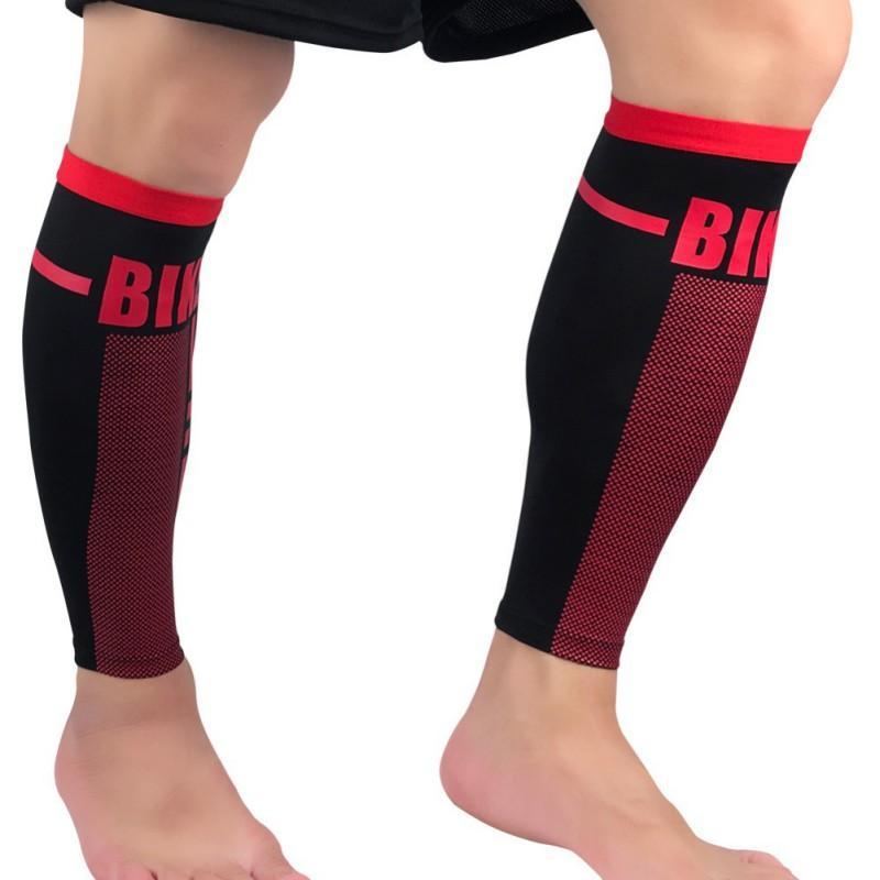 23de09b42b Football Basketball Sport Bicycle Calf Leg High Elastic Compression Brace  Support Stretch Sleeve Compression Exercise Leggi Cycling Legwarmers Cheap  Cycling ...