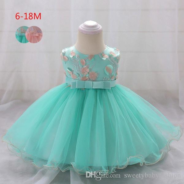 d0deb40774d6 2019 2018 Vintage Baby Girl Dress Baptism Dresses For Girls 1st Year ...