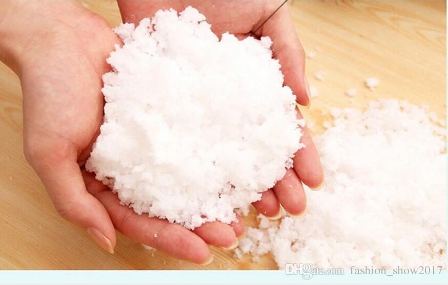 Magia de Nieve Artificial Nieve Instantánea Mullido Absorbente Snowflack Decoración de Navidad Ornamento de la Boda Venta Caliente Navidad Creativa