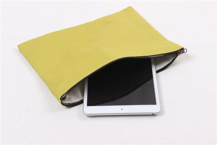 plain canvas blank cotton purse bag leisure key mobile phone hand bag can custom your design print pattern wholesale free DHL