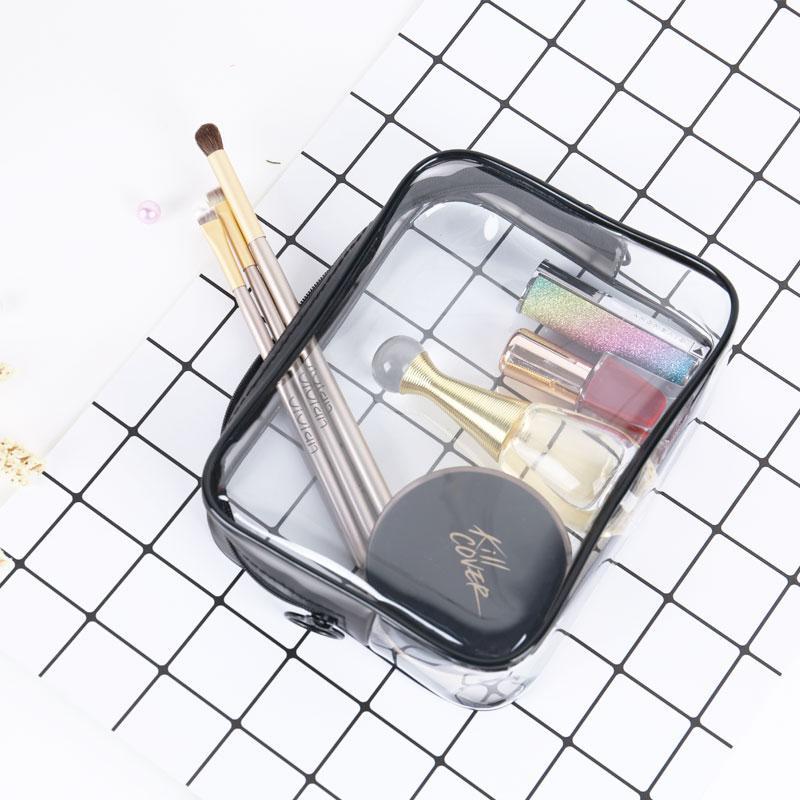 Transparent Cosmetic Bags Laser Dazzle Color Makeup Pouch TPU Beauty ... 149110fc0d
