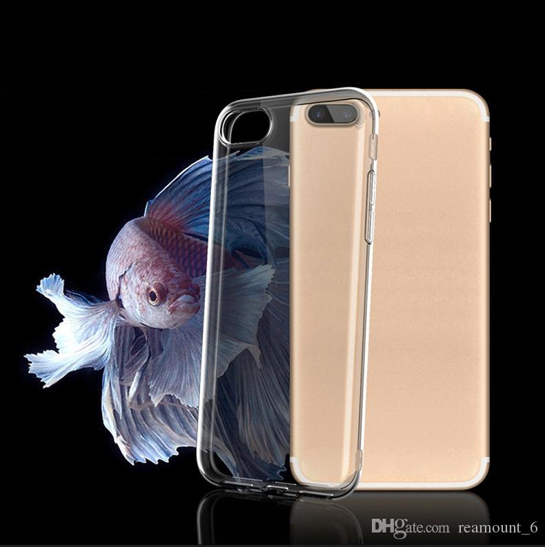 Retail Transparent Phone Case For iPhone 6 7 8 Plus Ultra Thin Clear Soft TPU Silicone Cover For iPhone X with Retail Packaging