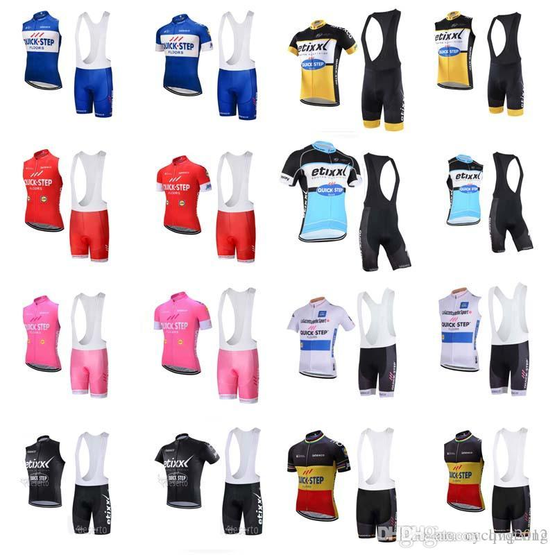 QUICK STEP Team Cycling Short Sleeves Sleeveless Vest Jersey Bib Shorts  Sets New High Quality Outdoor Mountain Bike Sportwear F0904 QUICK STEP  Cycling ... 9abe96693