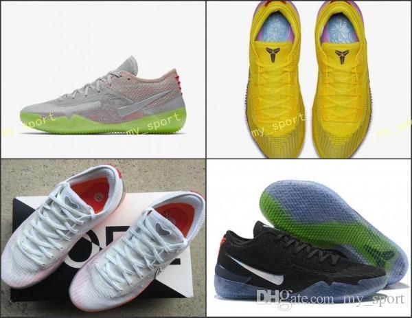 e552f22ef4c46 Compre 2018 Nuevo Kobe A.D. NXT 360 Huelga Amarilla Mamba Day Multicolor  Zapatos De Baloncesto Para Hombre De Calidad Superior 12 Wolf Sports  Sneakers ...